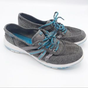 Keds Ortholite Gray & Blue Sneakers Size 8